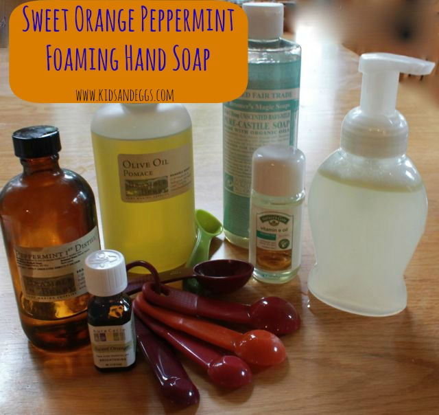 Orange peppermint foaming soap