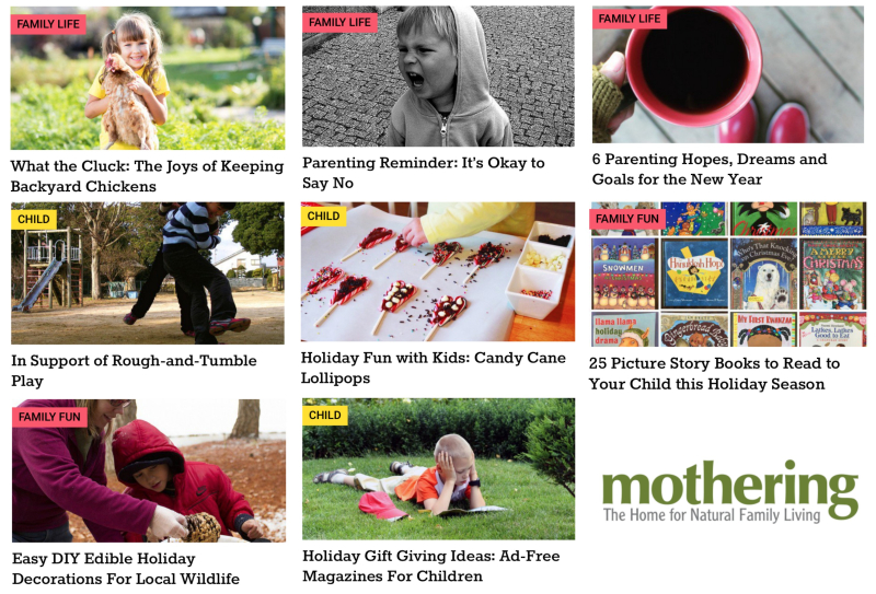 Mothering articles December