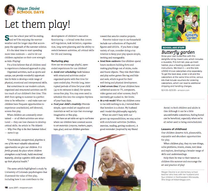 Megan Devine - Minnesota Parent Magazine