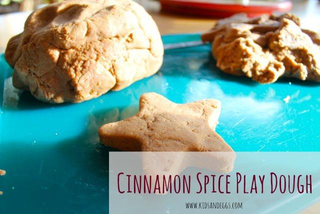 Cinnamon spice play dough