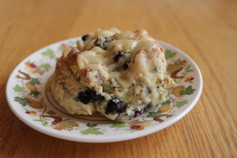 Blueberry Scones with Maple Glaze - 1 (3)